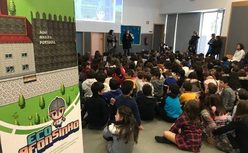 Eco Afonsinho apresentado aos alunos de Ponte
